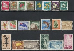 New Zealand, Sc 333-352 (SG 781-802), mostly MLH