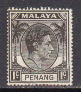 Malaya-Penang    #3  MH  (1949)  c.v. $1.50
