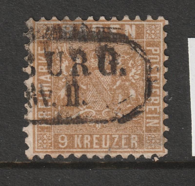 Baden a used 9Kr from 1862