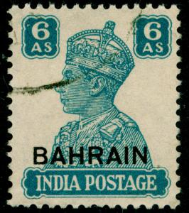 BAHRAIN SG48, 6a turquoise-green, FINE USED, CDS. Cat £12.