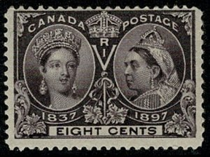 CANADA QV 1897 JUBILEE ISSUE 8c VIOLET MINT UNUSED(MH) SG130 Wmk.none P.12 VGC