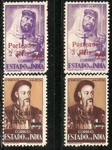 Port. India J43-46 Mint OG 1951 Postage Dues