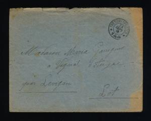 FRANCE 24-9-1916 - S.P. 144 Cachet à Date Double Cercle TRESOR & POSTES sur LSC