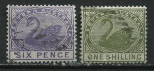 Western Australia 1890 6d and 1/ used