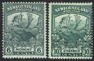 NEWFOUNDLAND 1919 CARIBOU 6C AND 10C