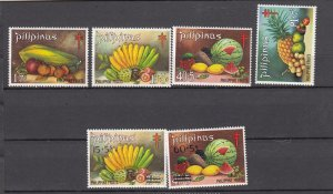 J27827, 1972-3 philippines sets mnh #b44-7, b48-9 fruits