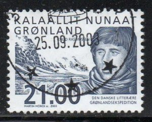 Greenland Sc 408 2003 21 kr Rasmussen Expedition stamp used