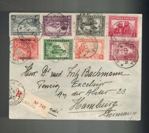 1932 Usumbura Ruanda Urundi Registered Cover to Hamburg Germany