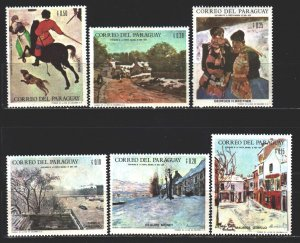 Paraguay. 1968. 1814-19 in a series. Picture, painting, equestrian, dog. MNH.