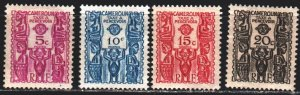 Cameroon. 1939. Ð14-17 from the series. African culture, figurines. MLH.