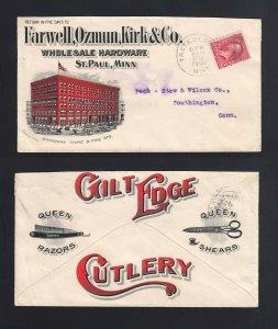 MINNESOTA: St. Paul 1900 Farwell, Ozmun & Kirk - RAZORS/SHEARS