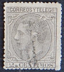 Spain, 1879, King Alfonso XII, YT #183, (1638-T)