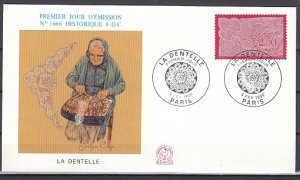 France, Scott cat. 2205. Lace Work issue. First day cover. ^
