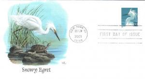 #3829 Snowy Egret Fleetwood FDC