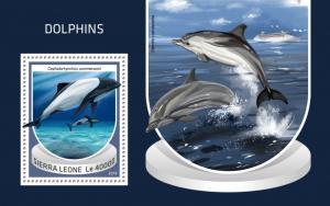 SIERRA LEONE - 2018 - Dolphins - Perf Souv Sheet - MNH