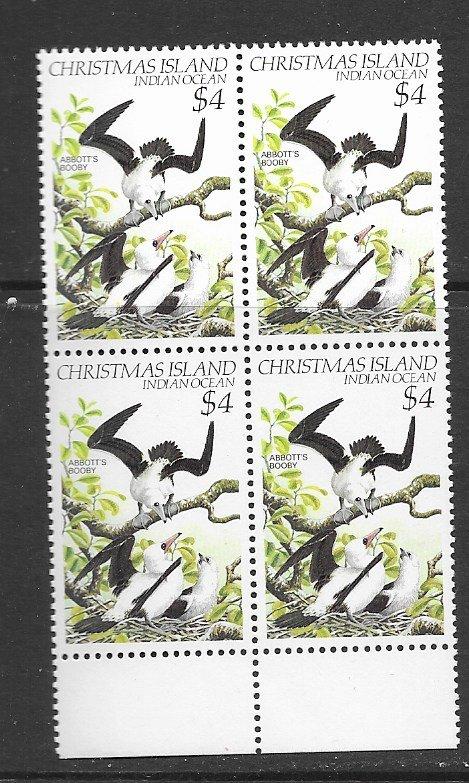 Christmas Islands 132 MNH high val. blk of 4, vf, see desc. 2020 CV$ 11.00