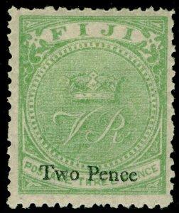 FIJI SG36, 2d on 3d green, M MINT. Cat £12.