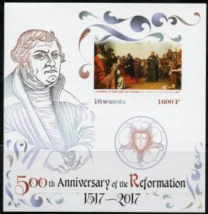 RWANDA 2017 50th ANN OF THE REFORMATION LUTHER AT THE DIET OF WORMS S/S IMPER NH