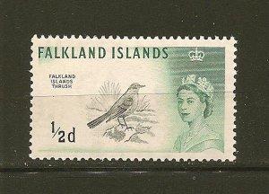 Falkland Islands 128 Thrush MNH