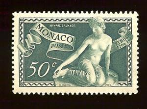 Monaco 209 50c Nymph Salmacis 1948 mint no gum
