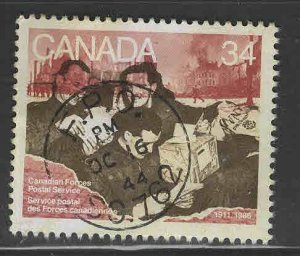 Canada Scott 1094 Used stamp the cancel is part of the design