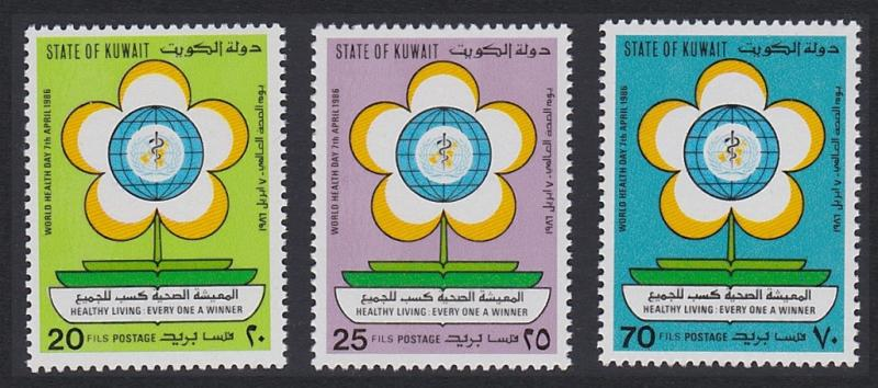 Kuwait World Health Day 3v SG#1103-1105 SC#1010-1012