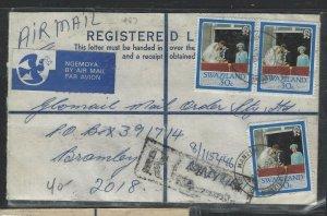 SWAZILAND  (PP0808B) 1987 FORMULA REG ROYAL WED 30CX3 MANZINI TO SOUTH AFRICA