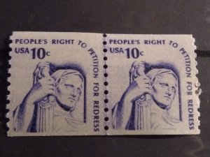 US #1617 – line pair MNH OG 10c