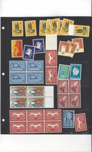 United Nations New York, Lot of Airmail Face $4.06, 35 MNH, 3 MH Below Face
