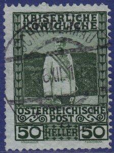 Austria - 1908 - Scott #121 - used - SCHOPPERNAU pmk