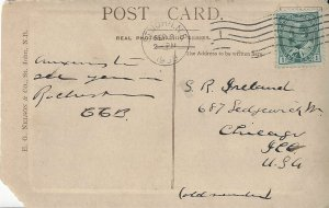 Canada  89 King Edward VII 1908 Post Card St. John, NB to Chicago.