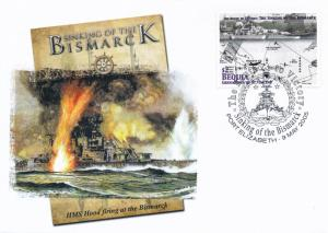 [96855] Bequia 2005 WWII Sinking Bismarck Special Cachet Cover