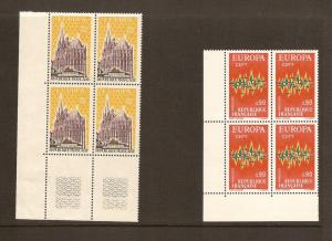 FRANCE STAMPS MNH -PAINTINGS 1972 PLATE BLOCK LOT#327