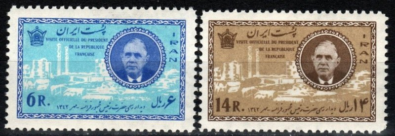 Iran #1257-8 F-VF Unused CV $10.50  (X6929)