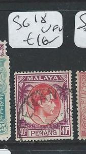MALAYA PENANG (P0410B) KGVI 40C  SG 18  VFU