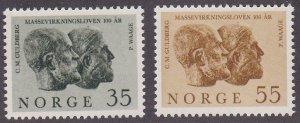 Norway # 452-453, Portraits, LH 1/3 Cat.