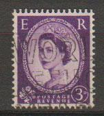 Great Britain SG 592 Used 2 graphite lines on reverse