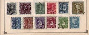 Montenegro Sc 87-98 (1910) Kingdom SeriesA Complete SetOn A Sc Page Used F-VF