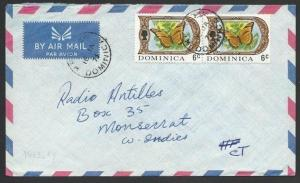 DOMINICA 1973 airmail cover to Montserrat - WESLEY cds.....................50281