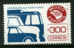 MEXICO Exporta 1495, $300P Cars/Buses Fluor Paper 13 MINT, NH. VF.
