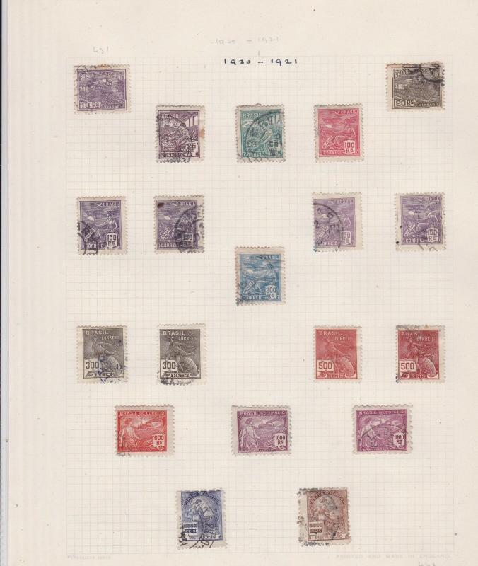 Brazil 1920-21 Stamps Ref 15487