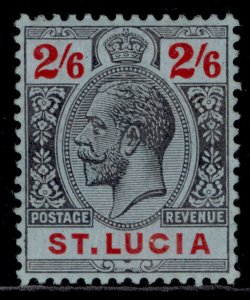 ST. LUCIA GV SG87, 2s 6d black & red/blue, M MINT. Cat £27.