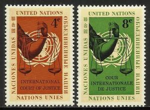 United Nations, New York 1961 Scott# 88-89 MNH