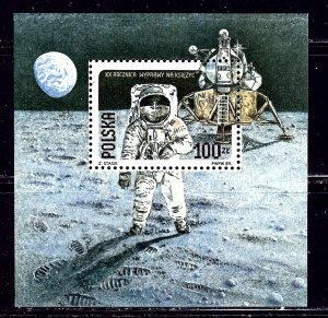 Poland 2910a MNH 1989 Moon Landing Anniv    (ap2231)