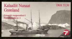 Greenland #338-339 MNH Booklet CV$24.00 Facit H8 Ships Rasks Egede