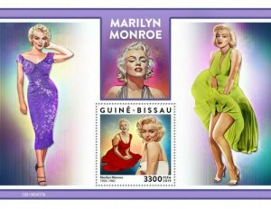 Guinea-Bissau - 2019 Actress Marilyn Monroe - Stamp Souvenir Sheet - GB190407b