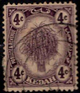 MALAYA Kedah Scott 29 Used  Sheaf of Rice stamp on watermarked paper