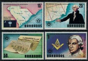 Barbados #440-3* NH  CV $3.70  US Bicentennial