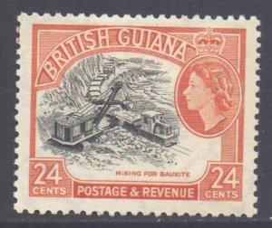 British Guiana Scott 261 - SG339, 1954 Elizabeth II 24c MH*