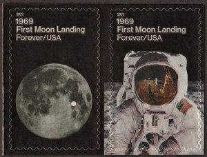SC#5399-5400 (55¢) 1969: First Moon Landing Pair (2019) SA